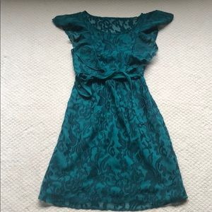 Green Anthropologie Dress, Size 0